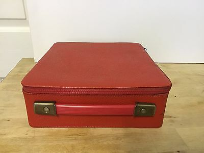 Red Vintage Cassette Tape Case - Great Condition - Like New!