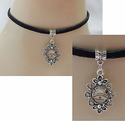 Silver Ouija Board Pendant Choker Necklace Handmade Adjustable NEW Fashion