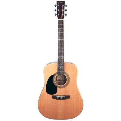 Johnson JG-624-N Player Series Left-Handed Acoustic Guitar, Natural + Ships Free