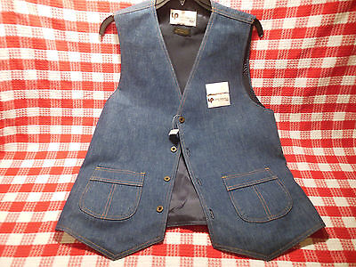 Vintage Levi's Panatela Sportswear Blue Denim Vest Size Medium-Large w Tags
