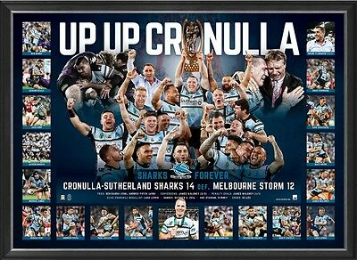 UP UP Cronulla sports print -2016 NRL Premiers-  First ever win!!!