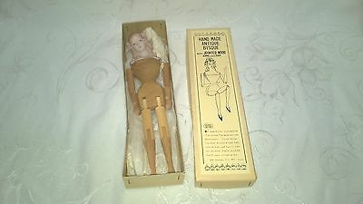 Vintage Shackman Japan Hand Made Bisque Jointed Arms Legs Doll $11.49