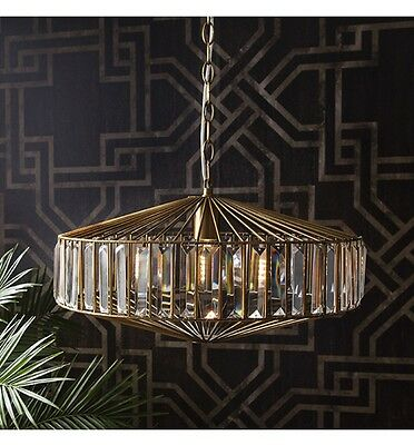 Ceiling Light pendant chandlier Glamorous jewelled light stunning metal cage