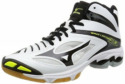 Mizuno Volleyball Shoes Wave Lightning Z3 MID V1GA1705 White&Black&Yellow Japan
