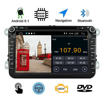 8''VW Golf MK6 2Din Quad Core GPS Android 5.1 Car Stereo DVD Player Autoradio UK