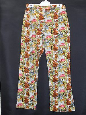 1970's/80's Jeans Style Flared Pants in African Animal Print.