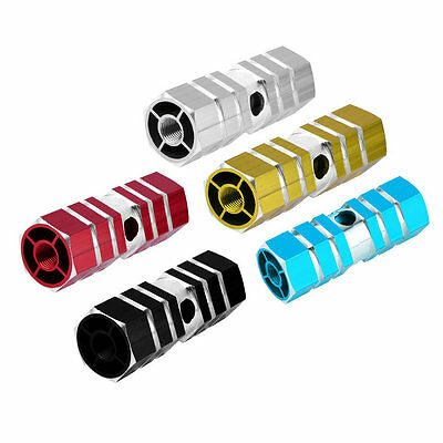 1 Pair Aluminum Alloy Pegs Bike Cycling Bicycle Rear Stunt Foot Peg Six Axle FQ