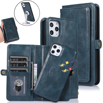 Real Genuine Leather Flip Zipper Wallet Case Cover For Samsung Galaxy S8 Note 8