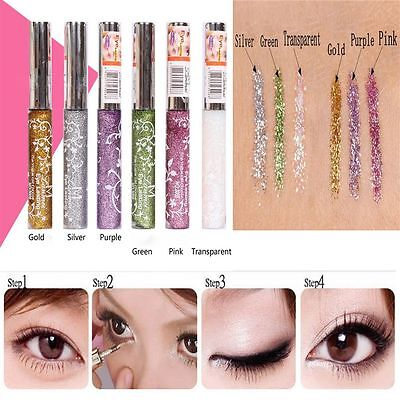 Xmas Gift Party Comestic Eyeshadow Eyeliner Liquid Glitter Sparkling Makeup