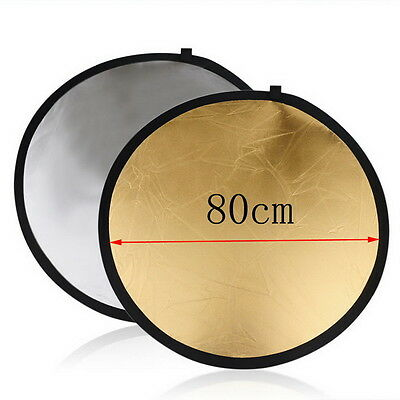 60cm 80cm 5in1 Photography Studio Light Mulit Collapsible disc Reflector FQ