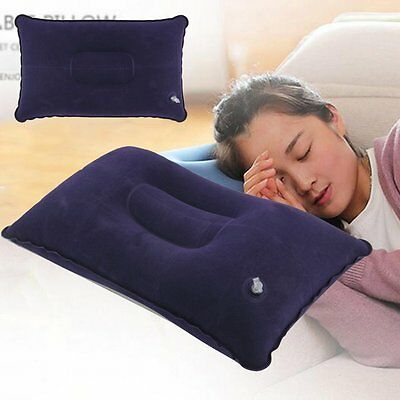 Fold Coussin Outdoor Voyage Sommeil Oreiller Air gonflable Portable Pause Rest #