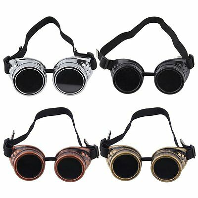Cyber Goggles Steampunk Glasses Vintage Retro Welding Punk Gothic Victorian FQ
