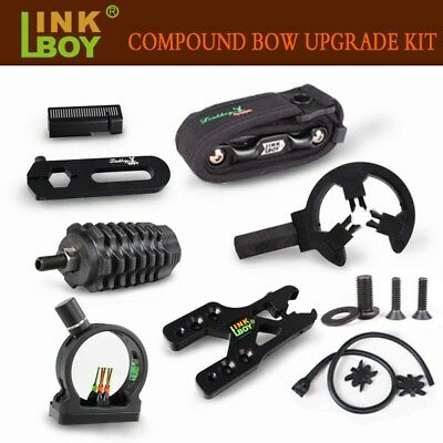 Compound Bow Sight, Arrow Rest, Stabilizer, D-Loop, String, Archery Upgrade Kit