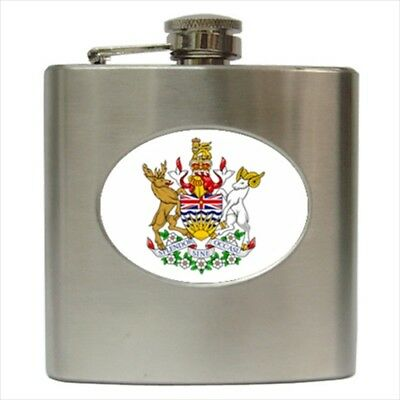 Coat of Arms British Columbia Canada Hip Flask (Classic Stainless Steel)