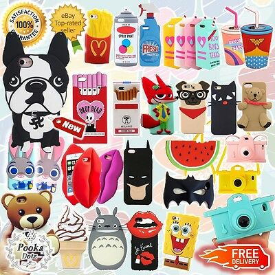 ✔Cartoon✔Limited✔Funny✔3D✔Soft Silicone Case✔Design✔For iPhone SE/5/6/S/Plus+ UK