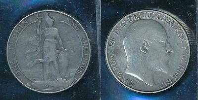 COIN GB KE7th 1905 FLORIN BRITANNIA STANDING