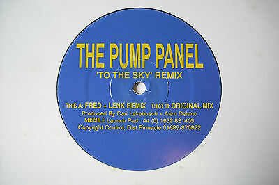 """MISSILE 9 Pump Panel 'To The Sky' 12"""" Vinyl. 90's Techno"""