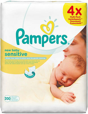 Pampers New Baby Sensitive Wipes (50 per pack x 4)