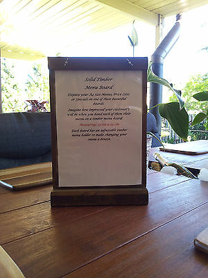 A4 Timber Counter Table Menu Boards Specials Boards Restaurant Cafe Coffee Shop