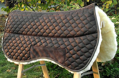 Beautiful Lambskin Western Blanket Saddle cloth Westernpad, with Sandwich system