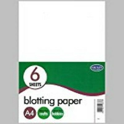 A4 Blotting Paper 6 Sheets Pack Office Caligraphy White