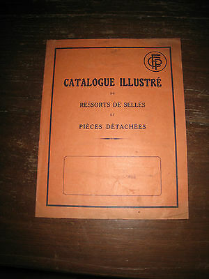 ancien catalogue cycles ressort  selle moto velo