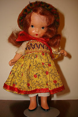 """Nancy Ann Stry Bk Doll , """"Over the Hills"""",  pudgy with tag"""