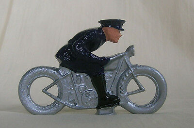 Police Officer on Motorcycle, Standard Gauge layout figure, New/Reproduction