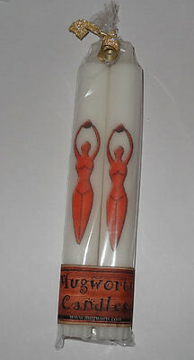 Red Goddess Taper Candle 20 cm high, Wiccan, Pagan,spell, Wicca, Gift, Halloween