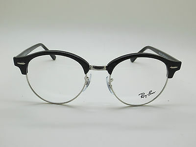 NEW Authentic Ray Ban Clubround RB 4246-V 2000 Black/Silver 49mm RX Eyeglasses