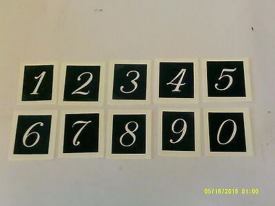 """Large number stencils for etching on glass (mixed) craft hobby present 1.5"""" high"""
