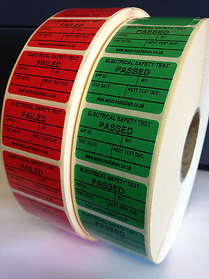 PAT Testing Stickers,Personalised  Free,  Electrical Labels, Pass or Fail