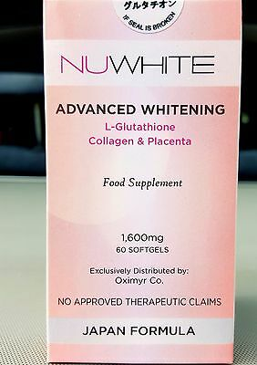 Glutathione NUWhite  Reduced Advanced Halal Collagen Placenta Japan Formula