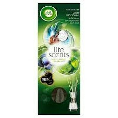 Air Wick Reed Diffusers 3 x Lush Hideaway - NEW life scents range - wild berry