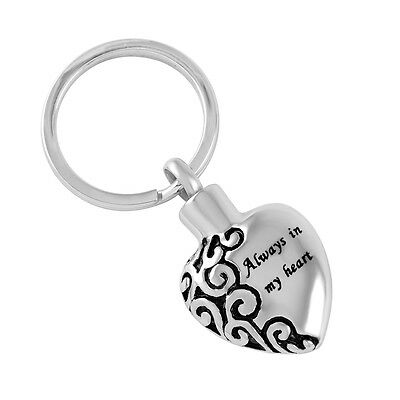 Cremation Ashes Jewellery Urn Small Keepsake Memorial Keyring heart keychain