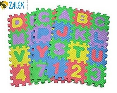 Puzzle Mat Foam 36 Blocks Learning ABC Alphabet Study Kids Letter Floor Play Toy