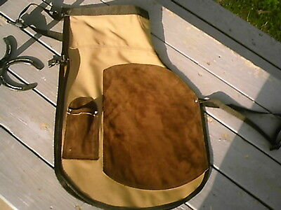 Horseshoeing Chaps/farrier Shoeing Apron/w/mag Coyote Brown