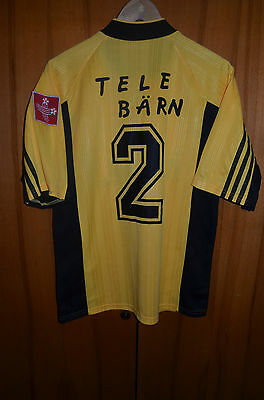 Young Boys Switzerland 1990's Match Worn Issue Football Shirt Jersey Adidas #4
