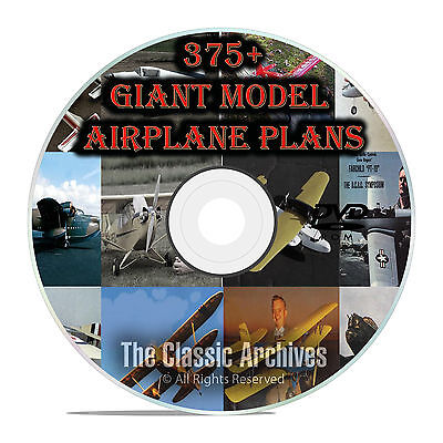 375+ Giant Scale RC Model Airplane Plans, Templates, Bombers Jets+ PDF DVD F56