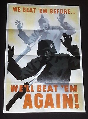 1941 Ww2 Usa America Allies Andti Axis Nazi Germany War Army   Propaganda Poster