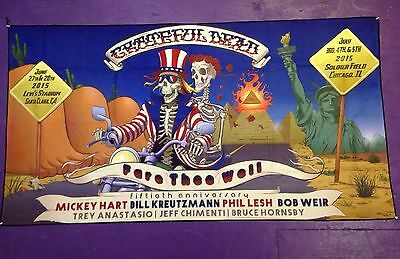 Grateful Dead 50th Tapestry-Banner Santa Clara & Chicago Fare Thee Well GD50