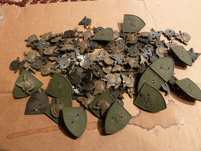 Lot of tiny US Military Academy West Point Distictive Collar Insignia Parts NICE