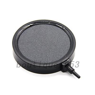 UK Aquarium Fish Tank Pond Air Stone Disk Diffuser Bubble Plate Black Trim