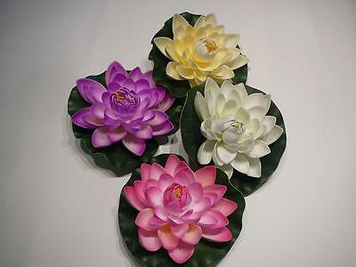 Large Floating Water Lotus Artificial Flower, Green Lily Pad, Pond Water Feature