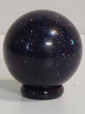 Blue Goldstone Sphere (40mm Dia) help one stay calm and stabilize the emotions