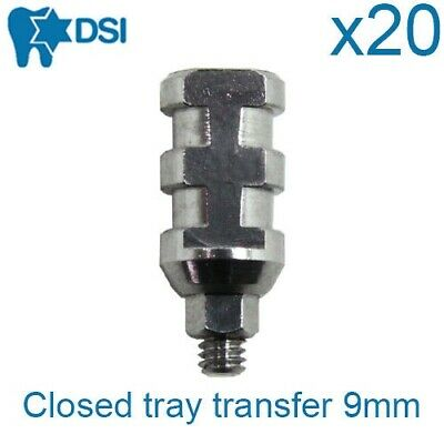 20x Dental Transfer Impression Coping Closed Tray Implant Abutment Height 9mm