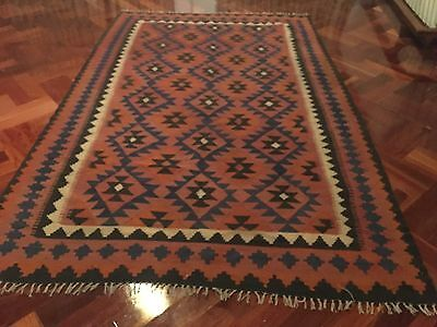 Beautiful Authentic Wool Handmade Hand Knotted  Persian Rug Carpet Kilim