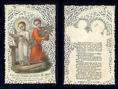 Holy card lace canivet (Bouasse 1345) Defect (dry scotch on the back) (111515)