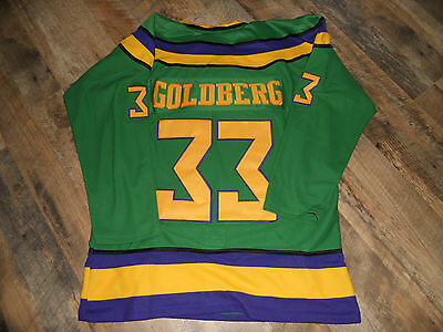 TRIKOT #33 GOLDBERG VINTAGE MIGHTY DUCKS MOVIE sz  L FILM DISNEY
