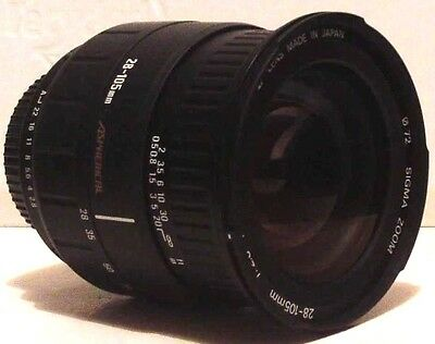 SIGMA ZOOM LENS   28-105mm F2-8.4 with PENTAX K mount and case